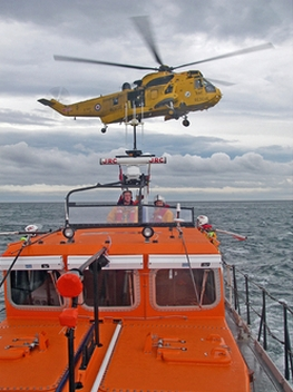 Helicopter-lifeboat