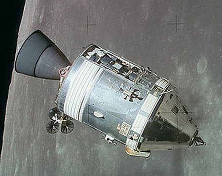 Apollo CSM lunar orbit